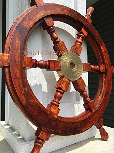 SAILORS SPECIAL Wooden Ship Wheel, 15
