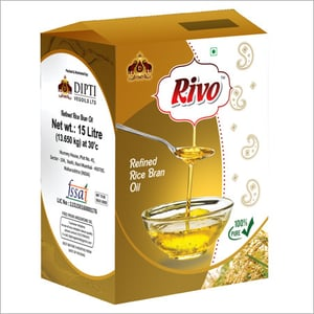 15 Ltr Jar Refined Rice Bran Oil
