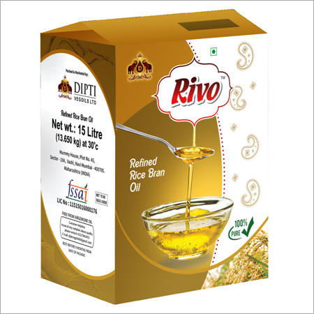 15 Ltr Jar Refined Rice Bran Oil