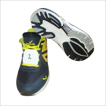 Blue And Yellow Running Shoe