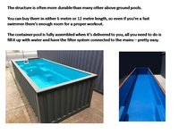 20'Swimming Pool Container