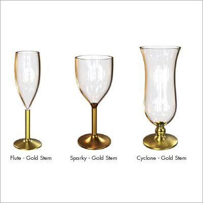 Unbreakable Golden Stem Glasses