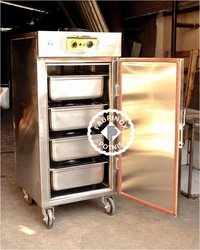 STAINLESS STEEL HOT FOOD TROLLEY / BANQUET CART