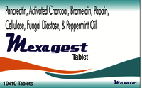 Fungal Diastase & Papain & Pancreatin 4X & Activated Charcoal & Cellulase & Pipermint oil