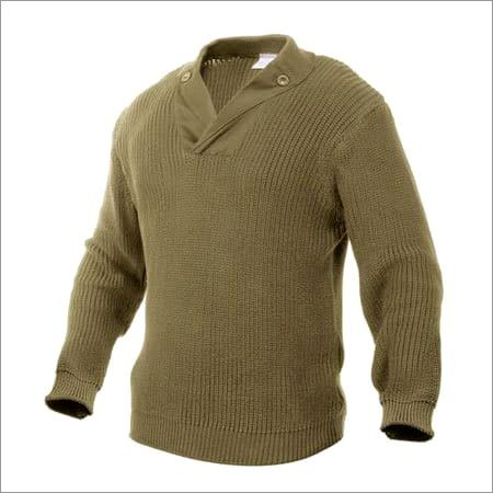 Brown Military Sweater