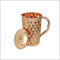 Copper Diamond Jug