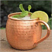 Copper Mug with Copper Handle