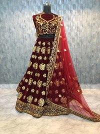 Bridal Wear Designer Maroon Colour  Lehenga Choli