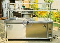 STAINLESS STEEL HOT CASE WITH CABINET