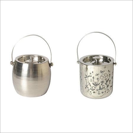 Silver ice bucket