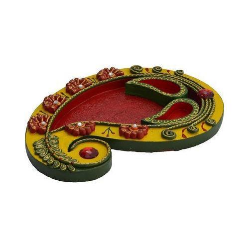 Mango Shape Traditional Pooja Thali