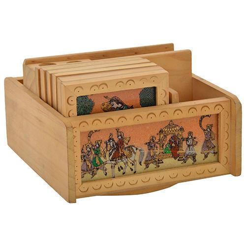 Wooden Gemstone Handicraft Office Set