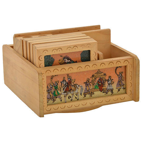 Wooden Gemstone Handicraft Office Set