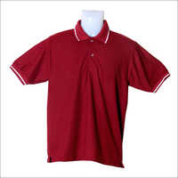 School Dark Red Collor T Shirts