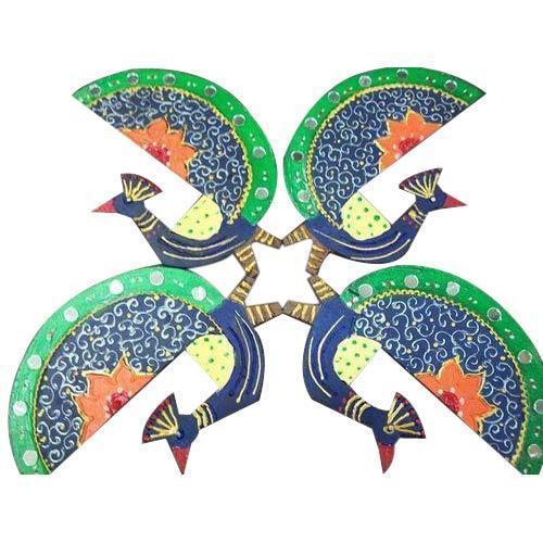 Peacock Wooden Rangoli