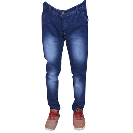 Blue Hard Wash Mens Regular Fit Streachable Jeans