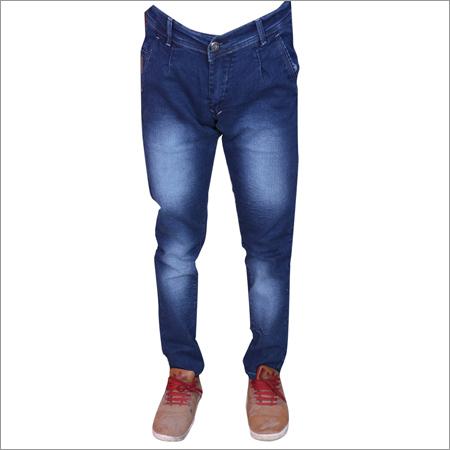Blue Hard Wash Mens Regular Fit Streachable Jeans