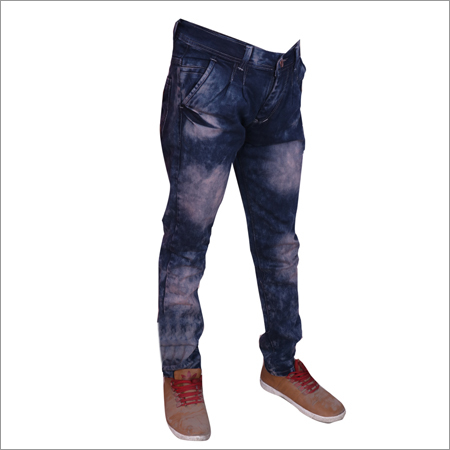 Brown Heal Wash Regular Fit Streachable Jeans