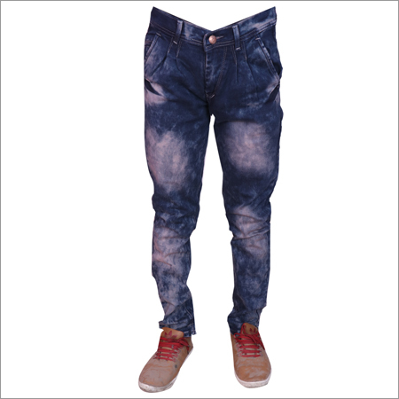 Brown Heal Wash Mens Customized Regular Fit Streachable Jeans