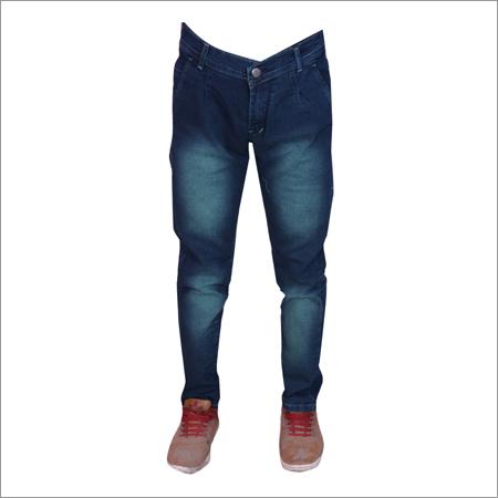 Light Green Shaded Regular Fit Strechable Jeans