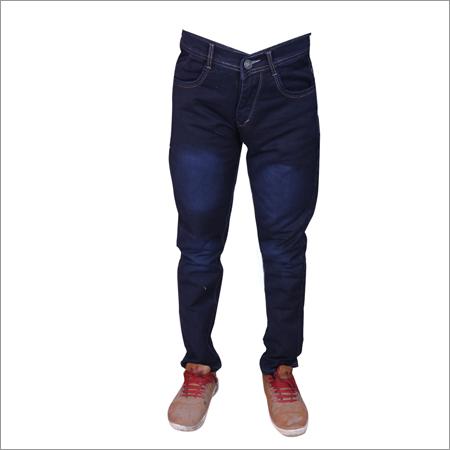 Navy Blue Mens Regular Fit Streachable Jeans