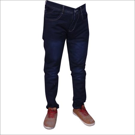 Navy Blue Regular Fit Streachable Jeans