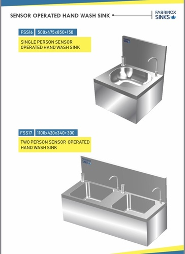 Stainless Steel Sensor Operated Hand Wash Sink