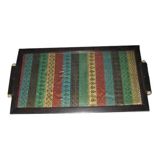 Multicolor Handicraft Wooden Tray