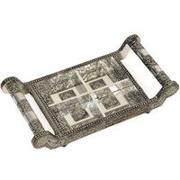 Handicraft Silver Wooden Tray