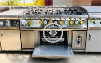STAINLESS STEEL SIX BURNER RANGE WITH OVEN