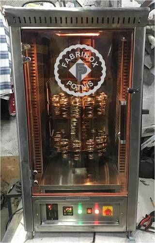 STAINLESS STEEL CONE PIZZA MACHINE VERTICAL