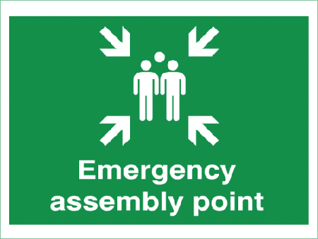 Fire Assembly Point Sign Board