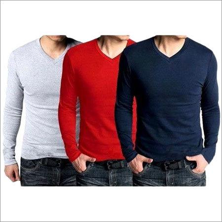 Mens Plain V Neck T-Shirt