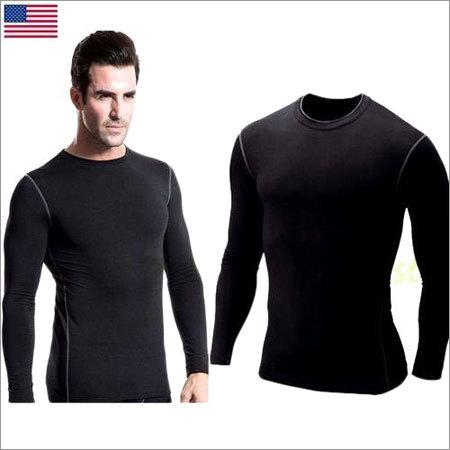 Mens Skin Tight Round Neck T-Shirt