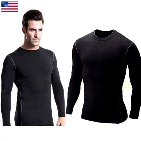 Mens Skin Tight Round Neck T-Shirt