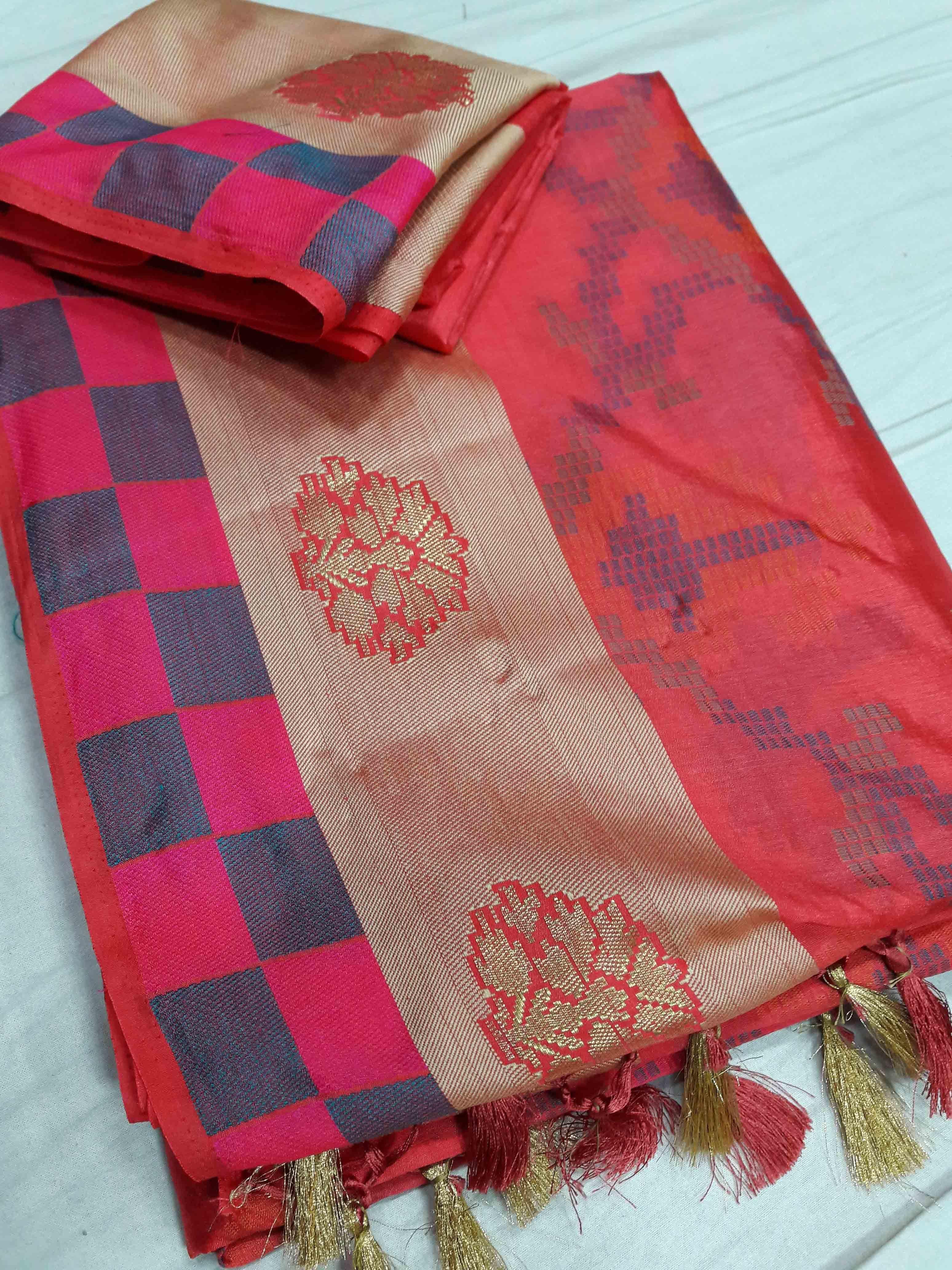 Ikkat Type Banarasi art Silk Sarees
