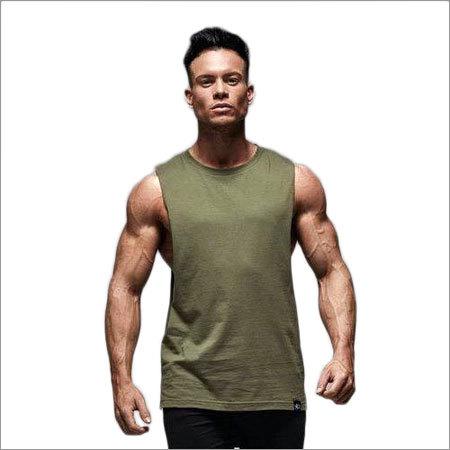 Mens Plain Sleeveless T Shirt