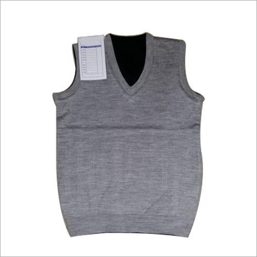 Grey Sleeveless School Sweater