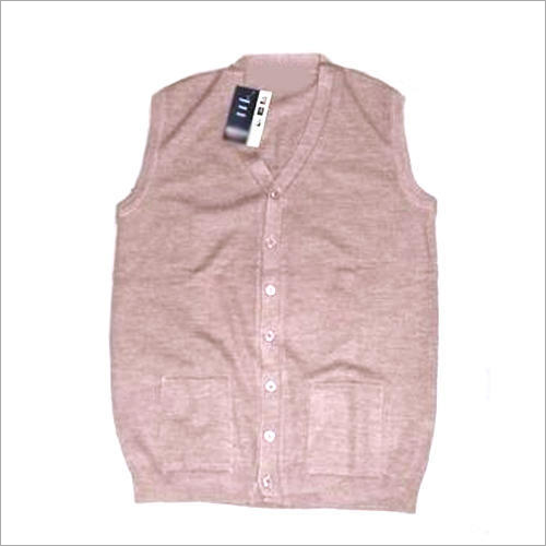 Ladies Sleeveless Cardigan