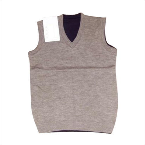 Mens Plain Sleeveless Sweater