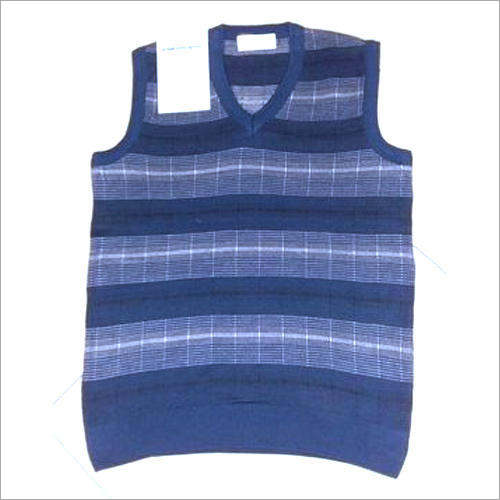 Mens Printed Sleeveless Sweater