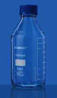 Blue Screw cap Bottles
