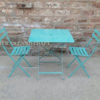 Cafe Furniture With Folding Chair And Table