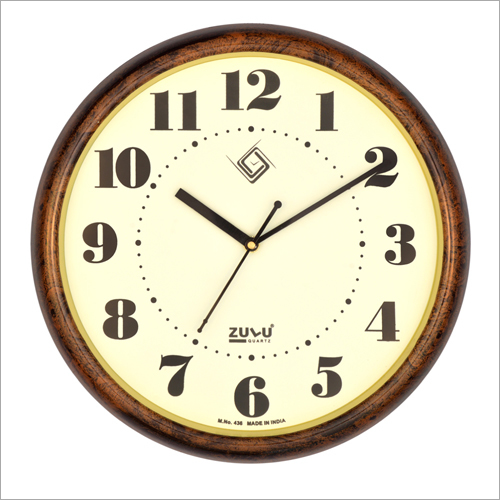 Wood Foiling Wall Clock