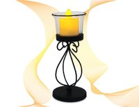 Curly Flower Candle Holder