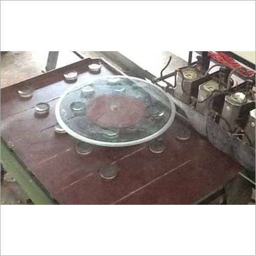 Round Glass Table Top Grinding Machine