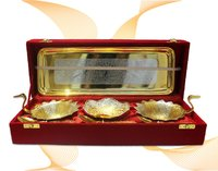Plate And Katori Set(Golden)