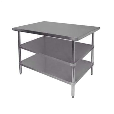 Table Under Shelves