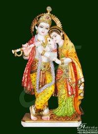 Radha Krishna Marble Statue Jaipur