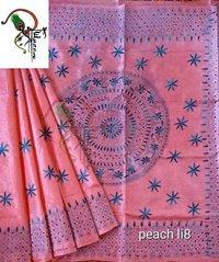 kantha stitch silk sarees